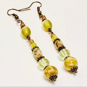 Rhyolite & Australian Opal Earrings